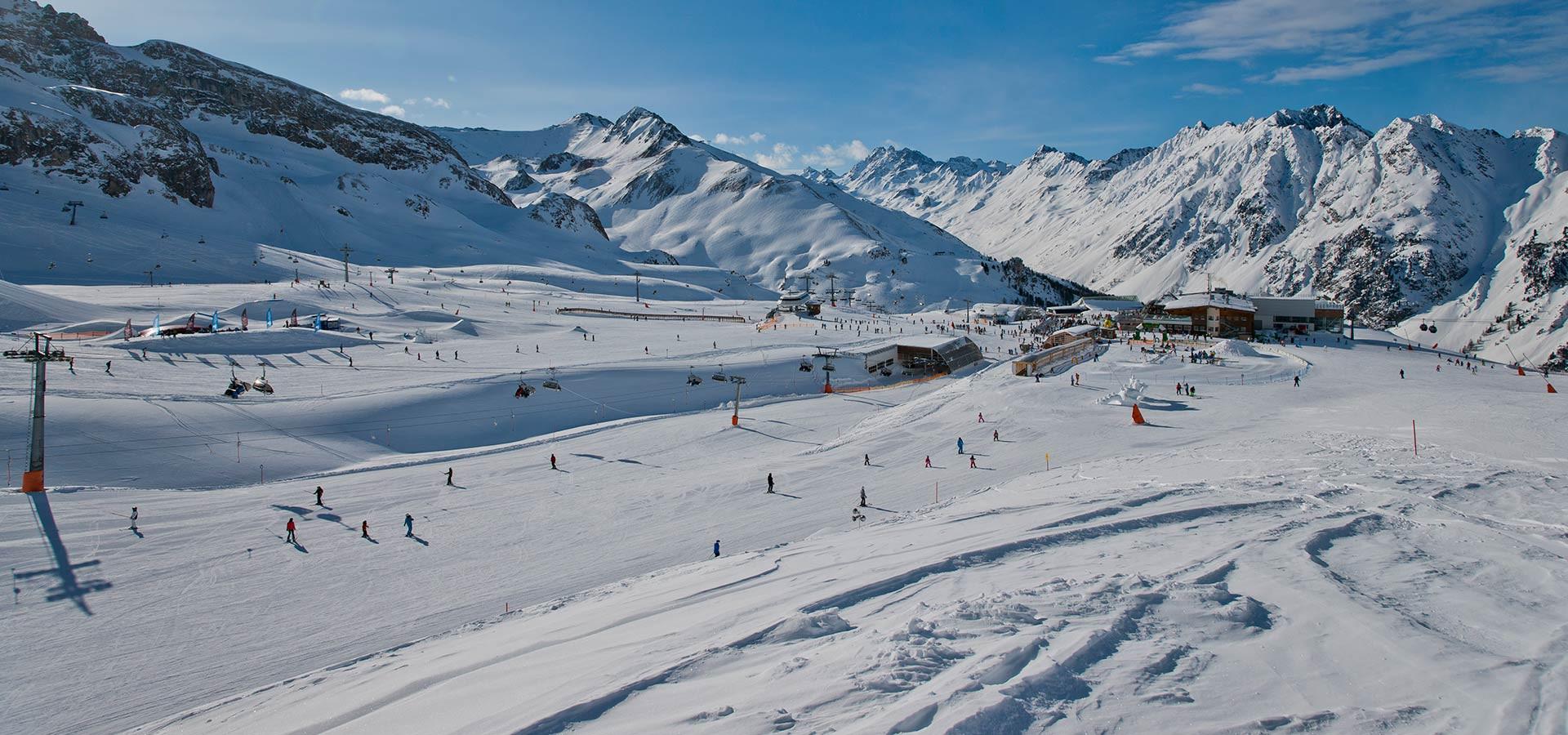 Grenzenloses Skigebiet Das Skigebiet Ischgl mit den vielen Superlativen