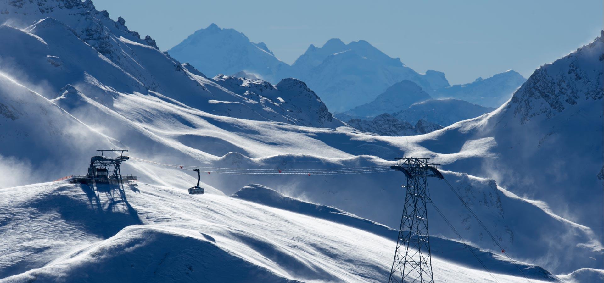 Silvretta Arena ski resort  pure skiing pleasure and guaranteed snow